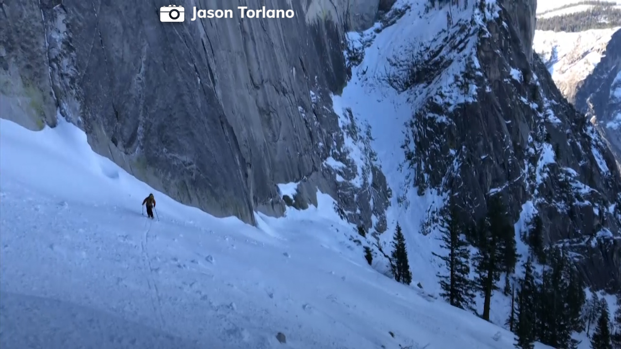Death-defying: 2 skiers descent Yosemite National Parks Half Dome